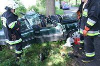 Trzyosobowa rodzina ranna w wypadku pod Dobrym Miastem